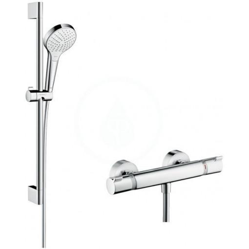 Hansgrohe Sprchový set Vario s termostatem, 3 proudy, sprchová tyč 650 mm, bílá/chrom 27013400