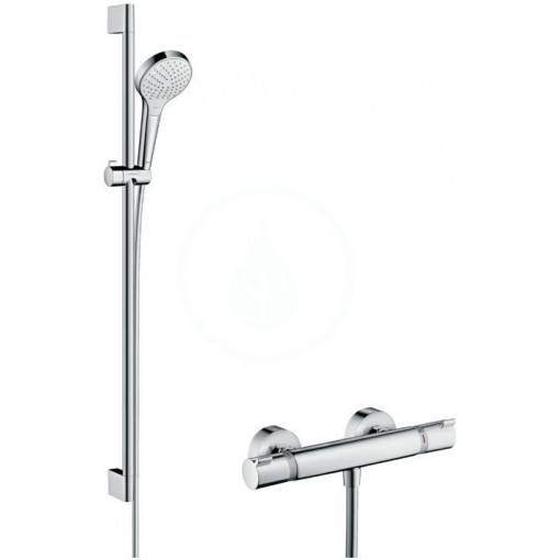 Hansgrohe Sprchový set Vario s termostatem, 3 proudy, sprchová tyč 900 mm, bílá/chrom 27014400