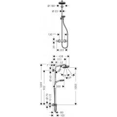 Hansgrohe Sprchový set Showerpipe s termostatem, EcoSmart 9 l/min, bílá/chrom 27265400