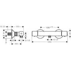 Hansgrohe Termostatická sprchová baterie, chrom 13122000