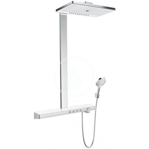 Hansgrohe Sprchový set Showerpipe 460 s termostatem, 3 proudy, bílá/chrom 27106400