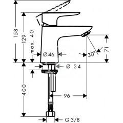 Hansgrohe Stojánkový ventil 80 pro studenou vodu, chrom 71706000