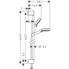 Hansgrohe Sprchová souprava Vario, 100 mm, EcoSmart 9 l/min, 2 proudy, bílá/chrom 26534400