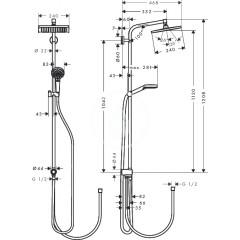 Hansgrohe Sprchová souprava E 240 Showerpipe pro renovace, EcoSmart 9 l/min, chrom 27289000