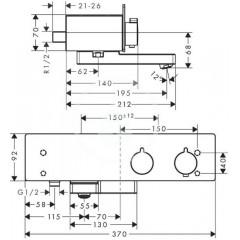 Hansgrohe Termostatická vanová baterie 350, bílá/chrom 13107400