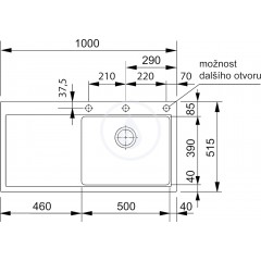 Franke Granitový dřez, MTG 611/2, 1000x515 mm, vanilka 114.0286.537
