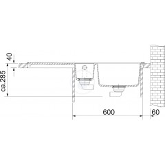 Franke Fragranitový dřez MTG 651-100/2, 1000x515 mm, onyx 114.0250.537