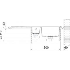 Franke Fragranitový dřez MTG 651-100/2, 1000x515 mm, sahara 114.0150.020