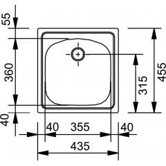 Franke Nerezový dřez ETN 610, 455x435 mm + sifon 101.0286.106