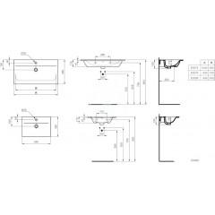 Ideal Standard Nábytkové umyvadlo 840x460x165 mm, s 1 otvorem pro baterii, s Ideal Plus, bílá E0279MA