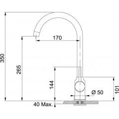 Franke Kuchyňský set T30, tectonitový dřez OID 611-78, černá + baterie FP 9900, černá 114.0366.039