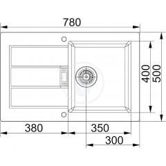 Franke Kuchyňský set T26, tectonitový dřez SID 611-78, černá + baterie FP 9900, černá 114.0366.030