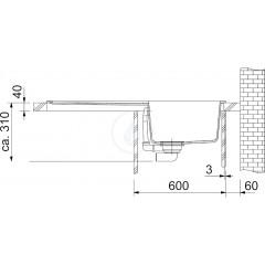 Franke Granitový dřez BFG 611, 970x500 mm, grafit 114.0285.302