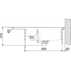 Franke Fragranitový dřez BFG 651-78, 780x500 mm, onyx 114.0285.215