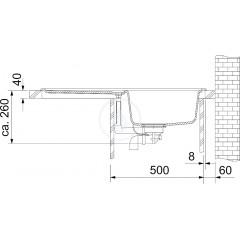 Franke Fragranitový dřez EFG 614-78, 780x475 mm, šedý kámen 114.0120.090