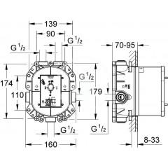 Grohe Rapido T - termostatické těleso pod omítku 35500000