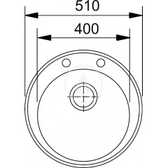 Franke Fragranitový dřez ROG 610, 510 mm, kulatý, vanilka 114.0284.736
