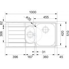Franke Nerezový dřez NEX 651/2, 1000x510 mm 101.0120.275