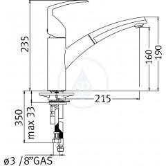 Franke Páková dřezová baterie Acquario FN 7780.031, chrom 115.0029.632