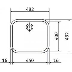 Franke Nerezový dřez GAX 110-45, 482x432 mm 122.0021.440