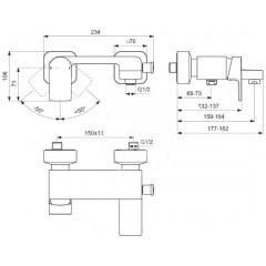 Ideal Standard Vanová baterie, chrom A7121AA