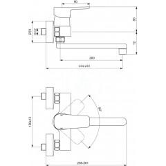 Ideal Standard Páková dřezová baterie nástěnná, chrom B0726AA