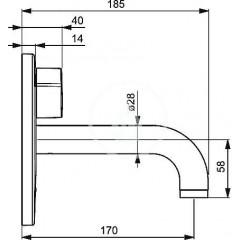 Hansa Umyvadlová elektronická baterie pro instalaci do zdi, chrom 81812101