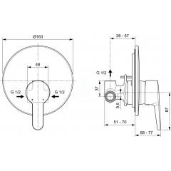 Ideal Standard Sprchová baterie pod omítku, chrom A6944AA