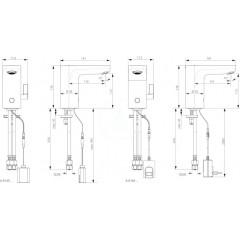 Ideal Standard Umyvadlová senzorová baterie směšovací (síť - 230V), chrom A6146AA