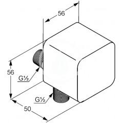 Kludi Nástěnné sprchové kolínko, chrom 6554305-00