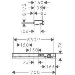 Hansgrohe Termostatická baterie 700 pro 2 spotřebiče, bílá/chrom 13184400