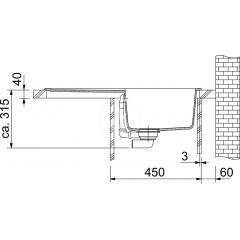 Franke Fragranitový dřez MRG 611, 780x500 mm, grafit 114.0284.820