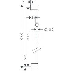 Hansgrohe Sprchová tyč 900 mm, chrom 26506000