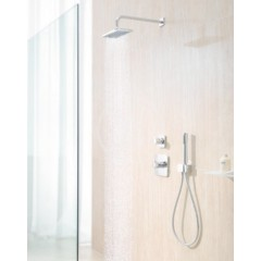 Kludi Nástěnné kolínko s držákem sprchy, chrom 6556005-00