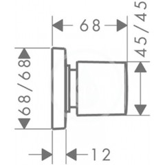 Hansgrohe Uzavírací ventil pod omítku, chrom 15978000