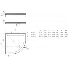 Ideal Standard Sprchová vanička litý mramor 810 x 810 mm, bílá L505701
