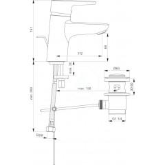 Ideal Standard Páková umyvadlová baterie s odtokovou soupravou, chrom B9914AA