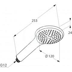 Kludi Sprchová hlavice 120 mm, chrom 6780005-00