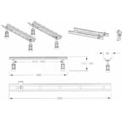 Ideal Standard Montážní set pro instalaci vany K727467