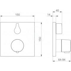 Hansa Termostatická sprchová baterie pod omítku, chrom 81139562