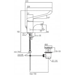 Ideal Standard Umyvadlová baterie s odtokovou soupravou a prodlouženou pákou, chrom B1135AA