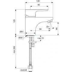 Ideal Standard Umyvadlová baterie, chrom B0703AA