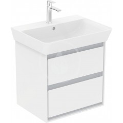 Ideal Standard Skříňka pod umyvadlo CUBE 600 mm, lesklý bílý/matný světle šedý lak E1606KN