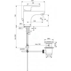 Ideal Standard Umyvadlová baterie Grande s odtokovou soupravou, chrom B0704AA