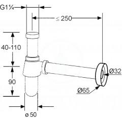 Kludi Lahvový sifon, chrom 1010505-00