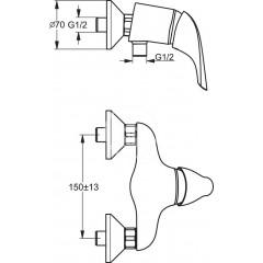 Ideal Standard Sprchová baterie, chrom B3699AA