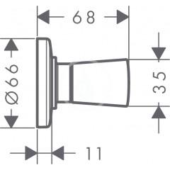 Hansgrohe Uzavírací ventil pod omítku, chrom 71970000