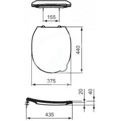 Ideal Standard WC dětské sedátko, bílá S453601