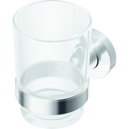 Ideal Standard Kelímek na zubní kartáček, čiré sklo, chrom A9121AA