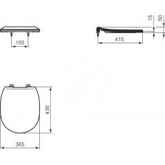 Ideal Standard WC sedátko ploché, bílá E772301